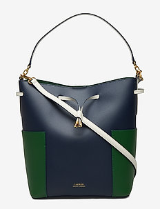 Color-Blocked Debby Bag - NAVY/GREEN CLOVER