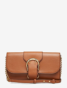 Pebbled Leather Crossbody Bag - LAUREN TAN