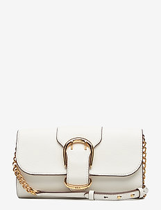 Pebbled Leather Crossbody Bag - VANILLA