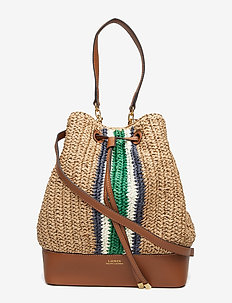 Straw Debby Drawstring Bag - NATURAL - G/N VER