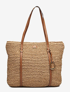 Crochet Straw Large Tote - NATURAL