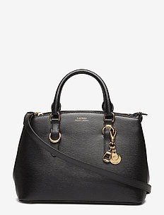 Saffiano Leather Mini Satchel - top handle - black