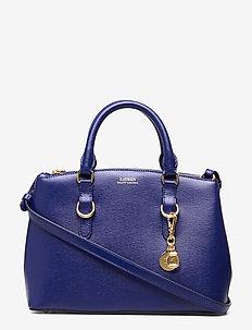 Saffiano Leather Mini Satchel - DEEP BLUE