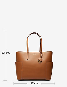 Large Leather Tote - FIELD BROWN/BLACK