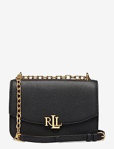 Medium Leather Crossbody Bag - black