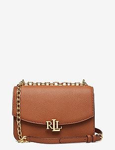 Medium Leather Crossbody Bag - crossbody tassen - lauren tan