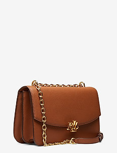 Large Leather Crossbody Bag - LAUREN TAN