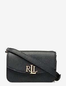 Leather Crossbody Bag - axelremsväskor - black
