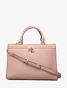 Pebbled Leather Laine Satchel - MELLOW PINK