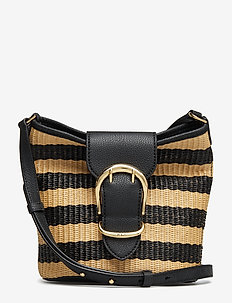 Woven Bucket Bag - BLACK/NATURAL