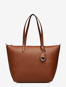 Faux-Leather Small Tote - BOURBON