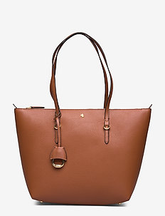 Faux-Leather Small Tote - fashion shoppers - lauren tan
