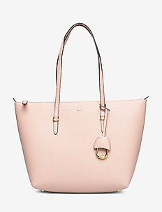 Faux-Leather Small Tote - MELLOW PINK