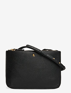 Faux-Leather Carter Crossbody - BLACK