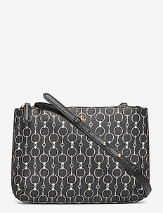 Faux-Leather Carter Crossbody - BLACK MINI CHAIN