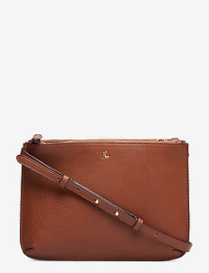 Faux-Leather Carter Crossbody - BOURBON