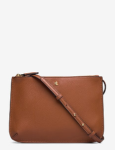 Faux-Leather Carter Crossbody - LAUREN TAN