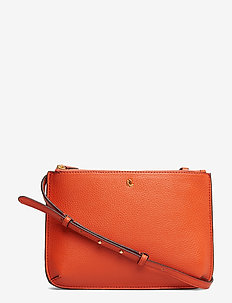 Faux-Leather Carter Crossbody - PUMPKIN