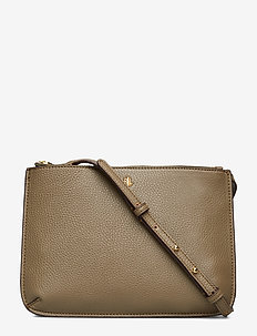 Faux-Leather Carter Crossbody - SAGE
