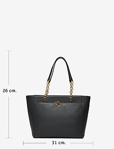 Medium Leather Tote - BLACK