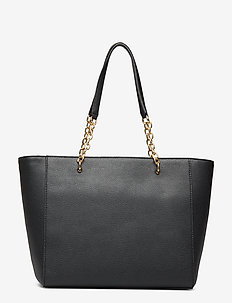 Medium Leather Tote - fashion shoppers - black