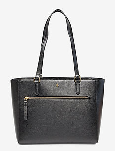 Saffiano Leather Tote - BLACK