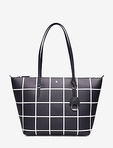 Vegan-Leather Keaton Tote - LAUREN NAVY LG WI