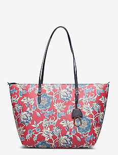 Vegan-Leather Keaton Tote - top handle - maupiti floral