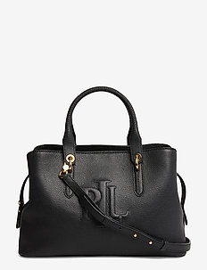 Hayward Leather Medium Satchel - handtassen - black