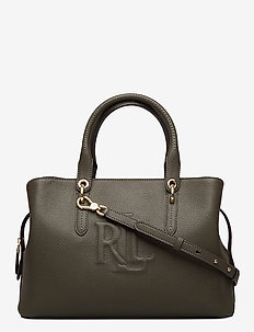 Hayward Leather Medium Satchel - top handle - deep olive