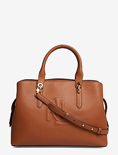 Hayward Leather Medium Satchel - LAUREN TAN