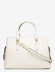 Hayward Leather Medium Satchel - VANILLA