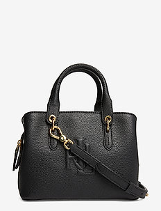 Hayward Leather Small Satchel - BLACK