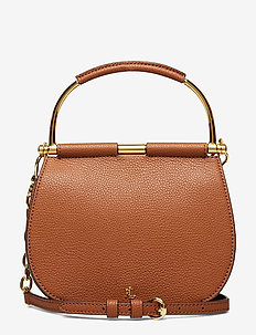 Mini Leather Round Satchel - LAUREN TAN