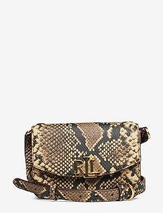 Leather Small Crossbody Bag - OATMEAL MULTI