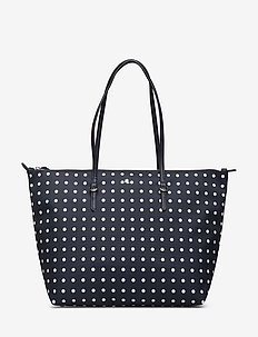 Medium Nylon Keaton Tote - shoppere - lauren navy dot