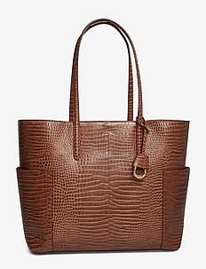 Large Leather Tote - UMBER BROWN