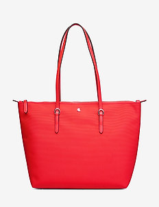 Nylon Tote - fashion shoppers - sporting red