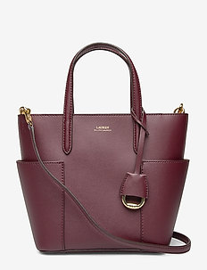 Leather Mini Carlyle Tote - BORDEAUX/FIELD BR