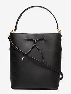 Medium Debby Drawstring Bag - BLACK/PORCINI