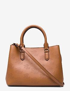 Leather Mini Marcy Satchel - FIELD BROWN/BLACK
