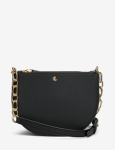Leather Medium Crossbody - shoulder bags - black