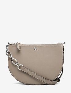 Leather Medium Crossbody - skuldervesker - taupe