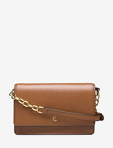 Leather Medium Crossbody Bag - LAUREN TAN