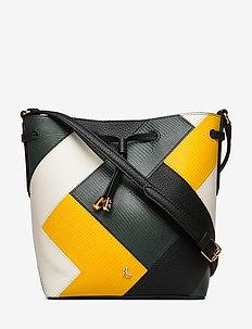 MULTI L PATCHWORK-DEBBY II-DRW-MIN - bucket bags - black/r green/sun