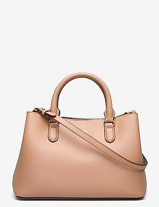 Mini Leather Marcy Satchel - sacs a main - nude/nude