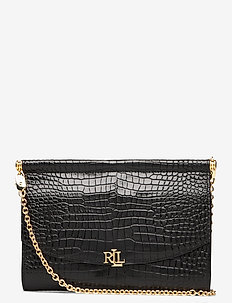 Leather Mini Clutch - clutches - black