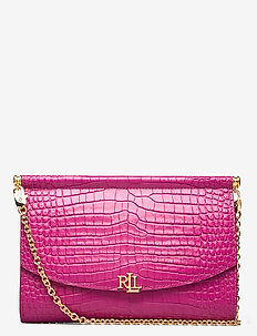 Leather Mini Clutch - clutches - deep fuchsia