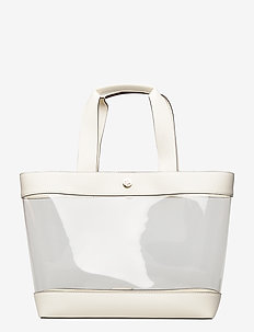 Clear Medium Tote - fashion shoppers - clear/vanilla