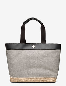 Canvas Medium Tote - casual shoppers - black
